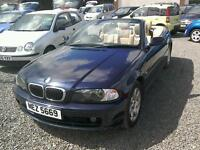 02 BMW 320 Ci convertible Only 75000 mls ( can be viewed inside anytime)