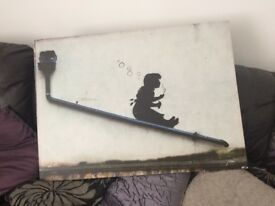 Banksy canvas picture in great condition