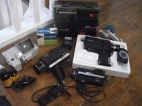 Assortment of mainly vintage cine camera equipment. Make an offer