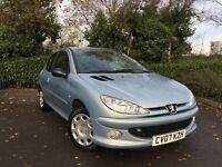 2007 (07) Peugeot 206 1.4 HDi 70 Look 72000 MILES FULL PEUGEOT SERVICE HISTORY IMMACULATE DIESEL 207