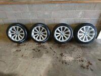 "Genuine BMW 17""alloy wheels set with run flat Pirelli tyres"