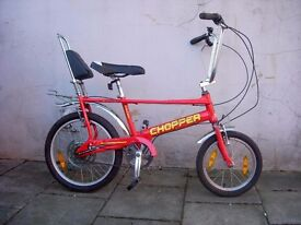 Chopper by Raleigh, Red, A British Classic, Works Great, Complete and Original ,CHEAP PRICE!!!!!!!!!
