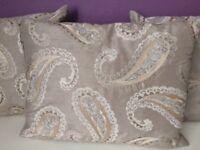 Laura Ashley 3x paisley cushions