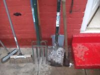 large amount of garden tools