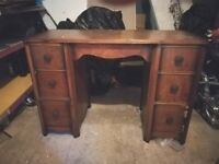 Solid wood handmade dressing table restoration project
