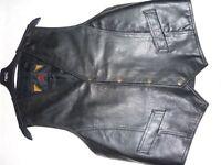 Black Leather Waistcoat (As new)