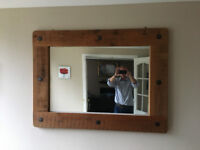 Chunky wooden mirror