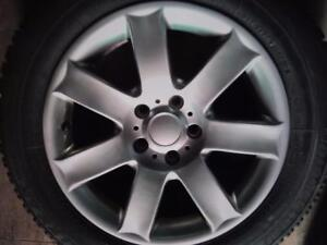 """17"""" BMW X1 WINTER PACKAGE,5X120 ALUMINUM RIMS WITH 225/60R17 BRIDGSTONE BLIZZAK LM-60 RUN FLAT USED FOR SALE"""