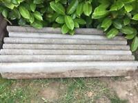 Garden Edging 7 x 90cm & 2 off cuts