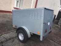 Galvanished dog trailer