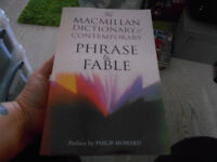 Macmillan Dictionary Of Contemporary Phrase & Fable 677 Page Paperback Book
