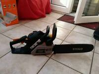 Titan petrol chainsaw in excellent working condition