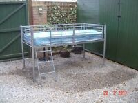 Mid Sleeper Metal Cabin Bed. Mattress Avaliable if Required. Can Deliver