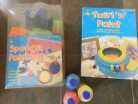 ELC Children Art Set- Twirl n Paint, Sponge Painting Kit Age 3+