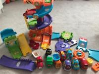 Vtech toot toot vehicles and parking garage
