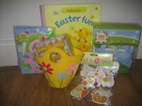 Collection of Easter crafts for children including the Usborne book of Easter craft