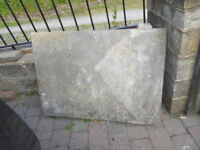 large old stone step 1030 wide x 960 deep x 125 thick