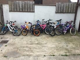 Job lot of 16 bikes needing repairs