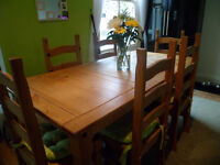 6' Dining Table and Chairs