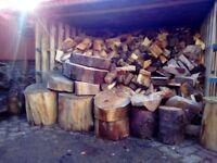 Logs for sale/ dry hardwood birch seasoned