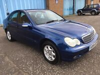 2004 Mercedes Benz C CLASS 1.8 , mot - June 2018 , service history ,bmw 3 series,audi a4,vw,