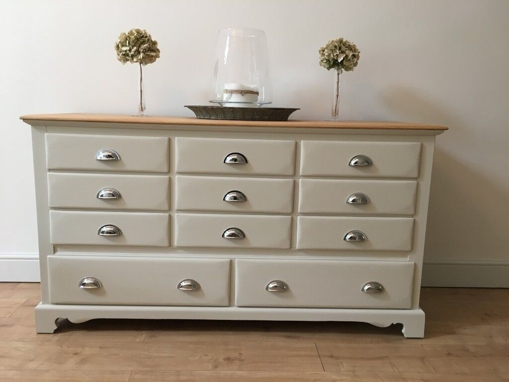 Extra Large 13 Drawer Sideboard Solid Light Oak Merchant Chest