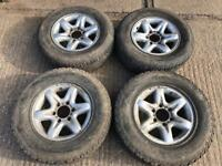 Nissan,Vauxhall,Isuzu Alloy wheels with off-road tyres, 6x139.7,4x4