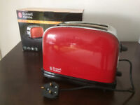 Russell Hobbs 2 slice toaster - red