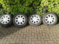 "4x Audi A4 15"" alloys and tyres (came off a1996 Audi A4)"