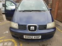 Seat Alhambra 2002 115bhp Spares or repairs Starts and drives