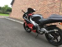 Full power Aprilla rs 125 good tight bike with extras