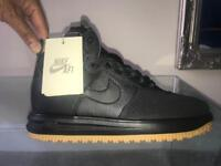 Brand New Men's Nike Lunar Air Force 1 Hightop Sneakers / Trainers - Black & Brown - UK Size 9