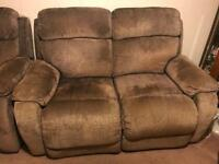 Pair of two recliner sofas