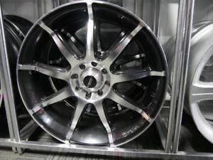 18 INCH NEW BLACK & MACHINED RIMS - 4X100 +4X114.3 SALE - TUNER RIMS