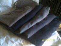 TEN PAIRS of TROUSERS In V.G.C. SOME NEVER WORN 38 to 40 Inch WAISTS , VARIOUS CLOTHS .