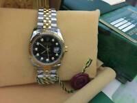 Rolex Datejust Black Dial Two tone