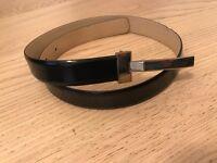 Ladies Black Leather Belt Karen Millen