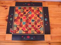 Hand Made Marquetry Snakes and Ladders Board.