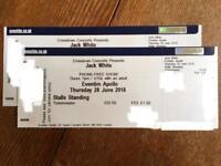 Jack White x2 Stalls Standing tickets Eventim Apollo London Thurs 28th June