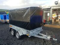 BRAND NEW MODEL 8.2 X 4.3 DOUBLE AXLE MASTER BRAKED TRAILER WITH FRAME AND COVER 1300KG
