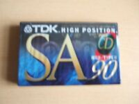 LOT 5 - ONE NEW TDK SA 90 AUDIO CASSETTE TAPE – see description