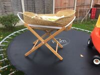 Baby crib with wooden frame and brand new matteress