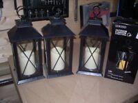 black garden lanterns