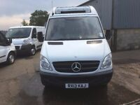 MERCEDES SPRINTER MWB FRIDGE VAN WITH STANDBY.2013.ONE OWNER.72K MILES WITH SERVICE PRINT