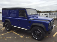 Land Rover defender 110 ,TD5 2003,03 . Limited edition SVR estoril blue paintwork