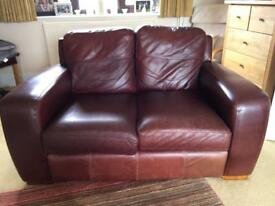 Free to collector. 2 seater and 3 seater Leather Sofas