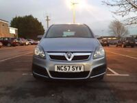 Vauxhall Zafira 1.6 i 16v Life 5dr£1,495 p/x welcome Cheap 7 Seater priced to sell 2008,93,000 miles