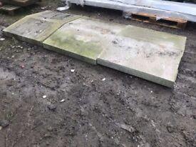 Granite driveway ramp