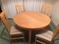 Ikea extending Birch effect table and 6 chairs