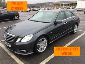 2009 MERCEDES E350 CDI SPORT / LONG MOT / PX WELCOME / FINANCE AVAILABLE / FULLY LOADED / WE DELIVER